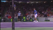 Novak Djokovic Hits a Hot Shot Against David Ferrer - Miami 2015