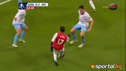 Арсенал - Астън Вила 3:2