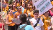 USA: Thousands of anti-fracking activists rally in Philadephia