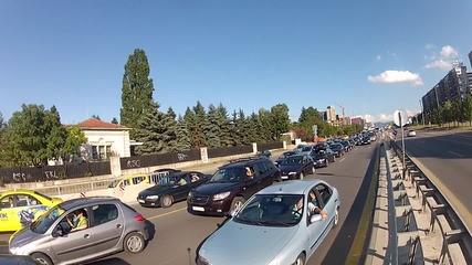 """Задръстване по бул. """"Цариградско шосе"""" 24. 08. 2015 г."""