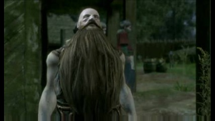 The Witcher - Dialogue with dwarven blacksmith