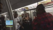 Brandy Ignored In NYC Subway