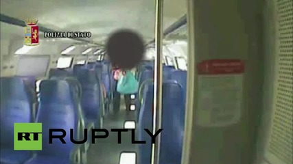 Italy: Man arrested after CCTV films train sex attack