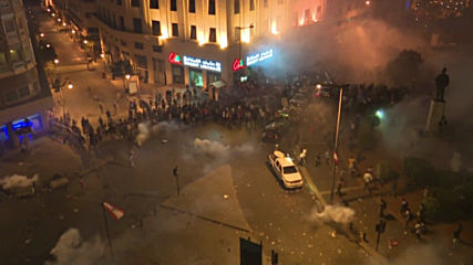 Lebanon: Police use tear gas as fires break out at Beirut protest