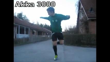 Jakob Elzein показва футболен трик (akka 3000)