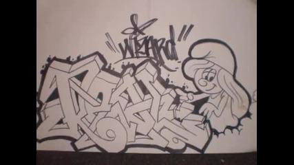 mnogo qka skica na Wizards (grafitti)