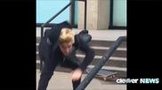 Внимание, Падаща Звезда: Джъстин Бийбър се преби със скейтборд (видео)
