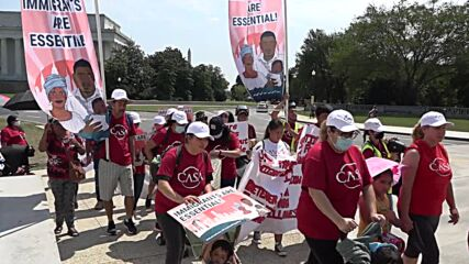 USA: Demo for pathway to citizenship for immigrant essential workers held in DC