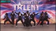 Britains got talent - Група танцува невероятно