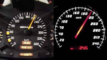 Mercedes W140 срещу Porsche, Lamborghini