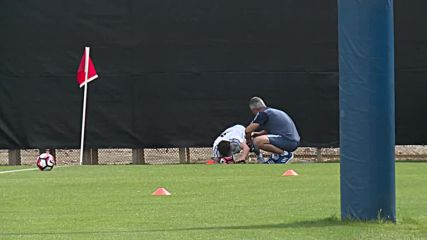 USA: Messi training after injury ahead of match against Chile in San Jose