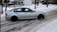 Bmw E46 Drift On Snow
