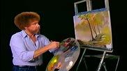 S04 Радостта на живописта с Bob Ross E06 - топъл летен ден ღобучение в рисуване, живописღ