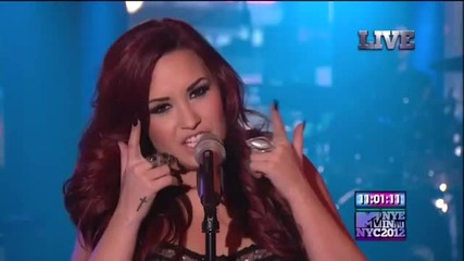 Demi Lovato - Give Your Heart A Break Mtv New Year's Eve