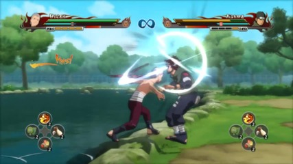 Naruto Shippuden Ultimate Ninja Storm Revolution - Hidan Vs Asuma