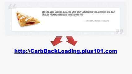 Carb Back-loading Manual for Total Body Fat Control
