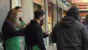 USA: Original Starbucks store repainted following inauguration protests vandalism