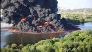 Огромен пожар в Московска река - 12.08.2015г.
