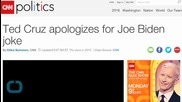 Ted Cruz Apologizes for Joe Biden Joke