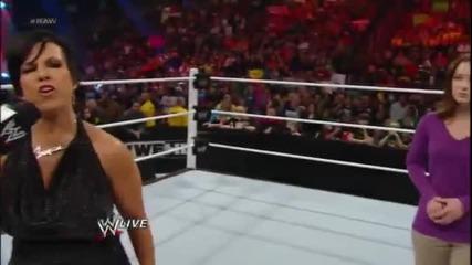 Wwe Raw 11/19/12- John Cena and Aj Lee kiss
