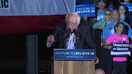 USA: Sanders rates his chances against Trump at packed Cali rally