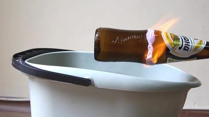 Как да срежем стъклена бутилка за 30 секунди