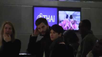 """Джейми Дорнан и съпругата му Амелия - """"среща"""" с фенове"""