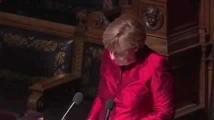 Germany: Merkel & Cameron talk Syria, refugees at Matthiae-Mahl dinner