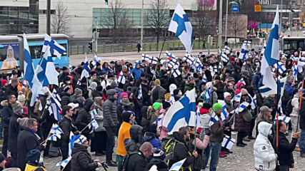 Finland: Hundreds stage 'Fixit' protest in Helsinki, calling on Finland to leave EU