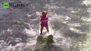 Baby Got Balance! Youngest Ever Water-Skier Breaks Record at 6 Months Old
