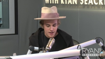 Justin Bieber за музика, Selena Gomez и вдъхновението ( On Air с Ryan Seacrest )