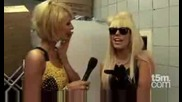 Paris Hilton meets Lady Gaga at the Nokia 5800 Launch