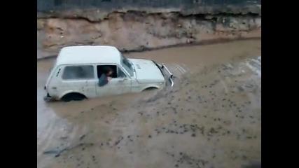 Lada Niva - extreme deep water