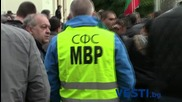 Протест на служители на МВР пред Народното събрание