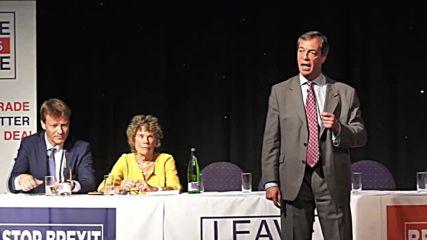 UK: No Brexit deal, 'no problem' - Farage