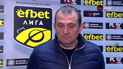 Загорчич: Само първата част играхме така, както исках