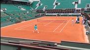 Григор тренира с Федерер преди Ролан Гарос 2014