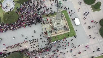Русе отбеляза Трети март с парад на специализирана техника и с шествие с 80-метров трикольор