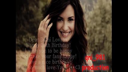 Happy 20th birthday Demi Lovato!
