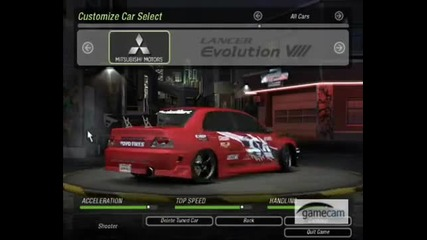 Need for speed underground 2 - Tuning and drift