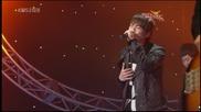 [превод] Jonghyun (shinee) - Y Si Fuera Ella @ Music Bank [12.12.08]