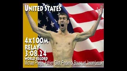 Щефетата 4х100 на Сащ в плуването спечели златото в Пекин 2008