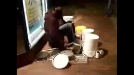 Awesome Homeless Drummer