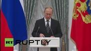 Russia: Putin honours Federal Bailiff Service at Kremlin ceremony