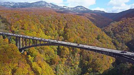 A bridge too far - Taking in autumn foliage from Japan's longest arched bridgea bridge too far - Taking in autumn foliage from J