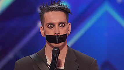 Странен номер от човекът със залепената уста - Америка Търси Талант