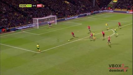 28.12.13 Норич Сити 0 - 1 Манчестър Юнайтед - Най-доброто от мача