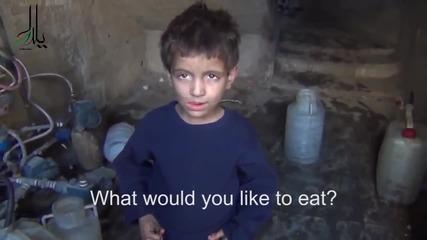 Малко сирийско момче няма какво да яде освен трева :-(