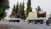 Syria: US troops and SAA cross path on road between Manbij and Kobani