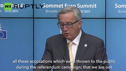 European Commission President Juncker Says 'Grexit Scenario Prepared'